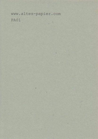 altes graugrünes Durchschlagpapier A4 Blatt PA01