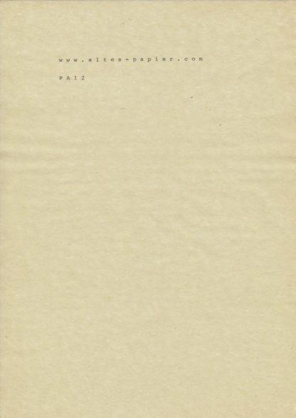 altes gelbes Durchschlagpapier PA12