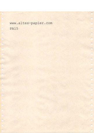 altes vergilbtes Computerpapier PA15