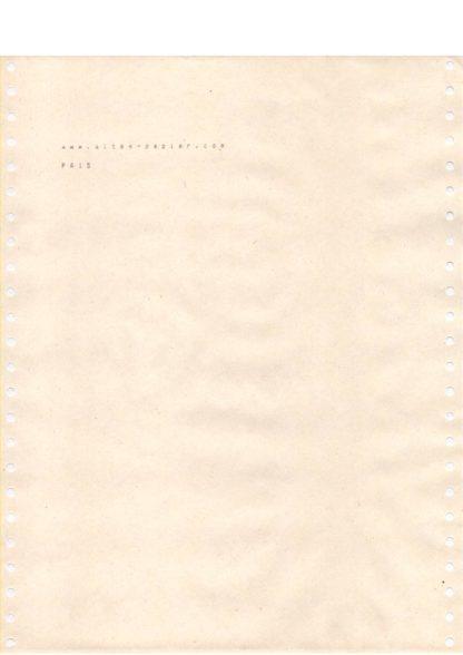 vergilbtes Computerpapier PA15