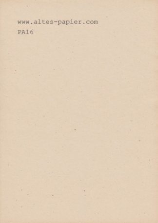 stark vergilbtes Schreibmaschinenpapier PA16
