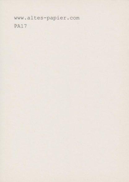 blass vergilbtes Schreibmaschinenpapier PA17
