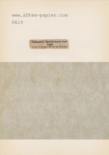 antikes Papier Feldmühle 1528 Special Bank Post