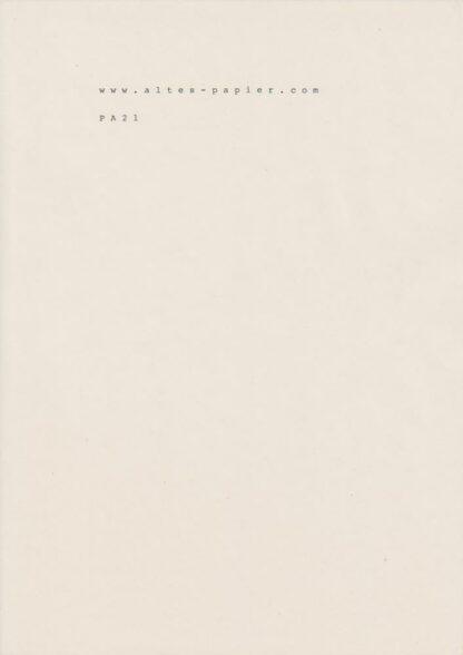 leicht vergilbtes Druckpapier PA21