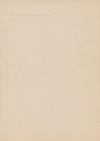 altes stark vergilbtes Druckpapier PA22