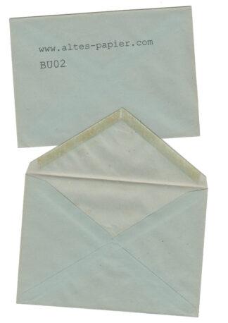 alte blaugraue Briefumschläge BU02