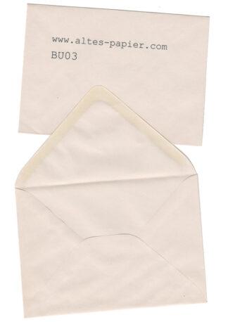 alter Briefumschlag leicht vergilbt
