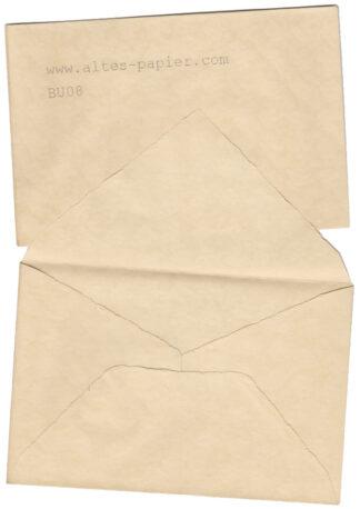 alter Bütten Briefumschlag BU08