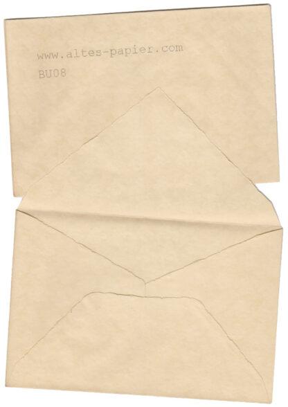 alter Bütten Stil Briefumschlag BU08