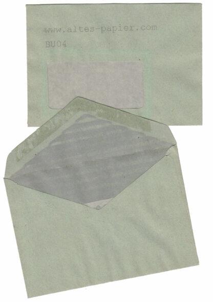 graugrüne Fensterbriefumschläge BU04