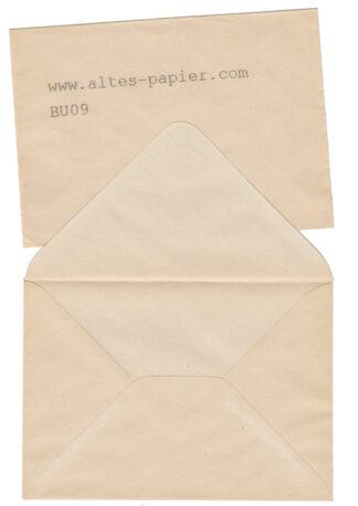 alte vergilbte Briefumschläge BU09