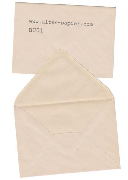 vergilbter Briefumschlag satiniert