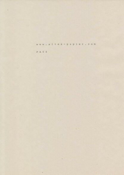 vergilbtes Druckpapier Schreibmaschine