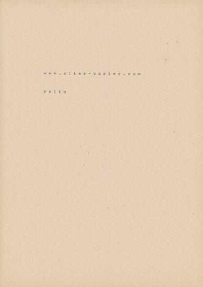 stark vergilbtes Schreibmaschinenpapier Typenrad
